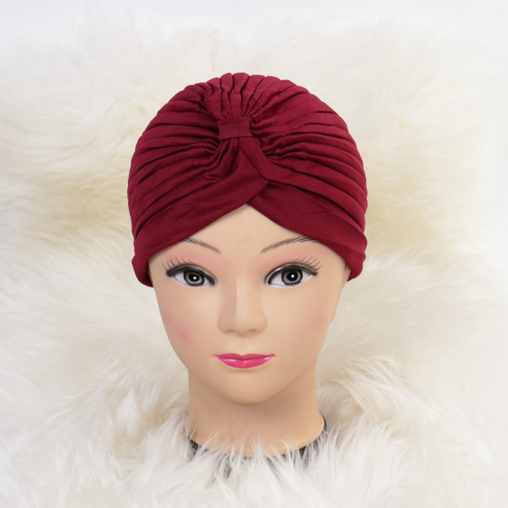 Turban simplu bordo Zizi