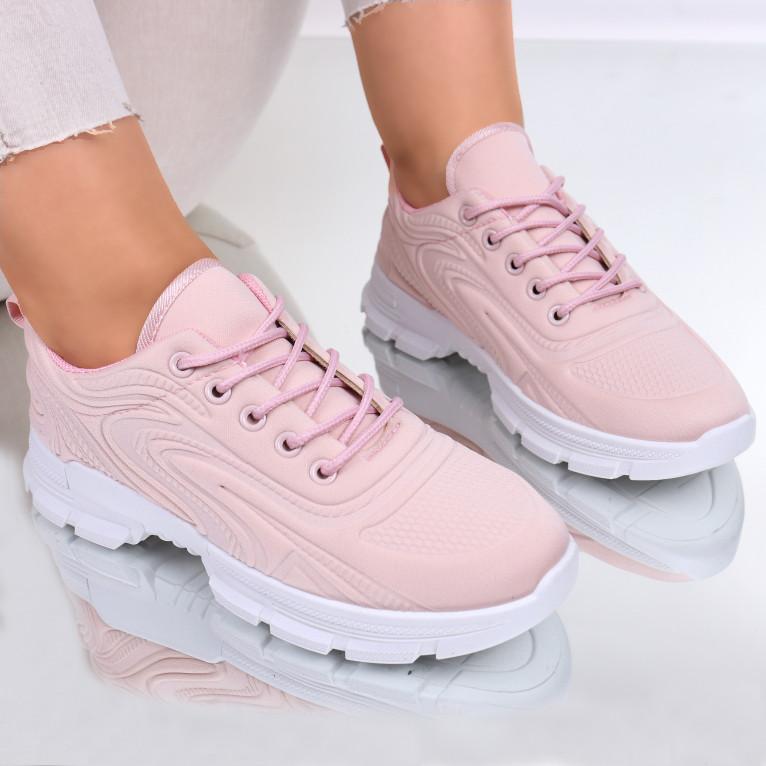 Adidasi material textil roz Rika