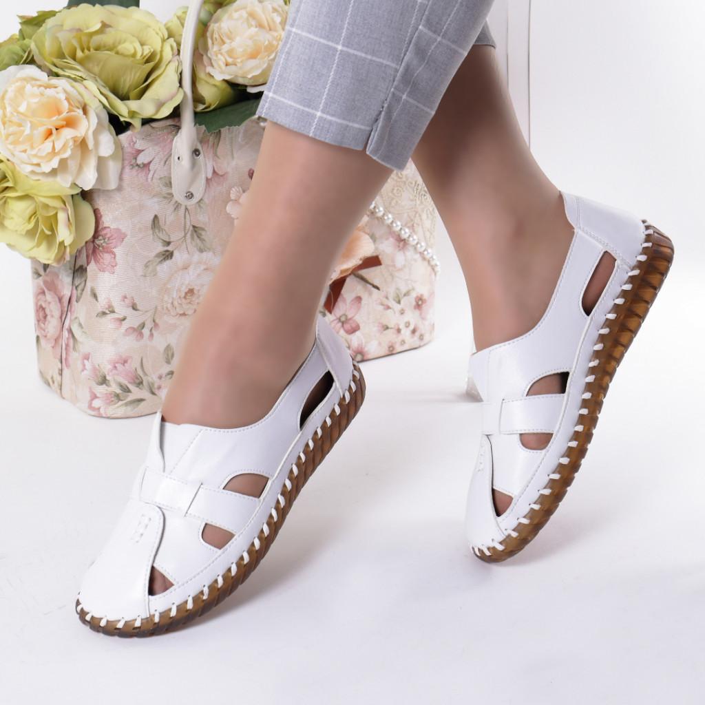 Pantofi albi piele ecologica Damla