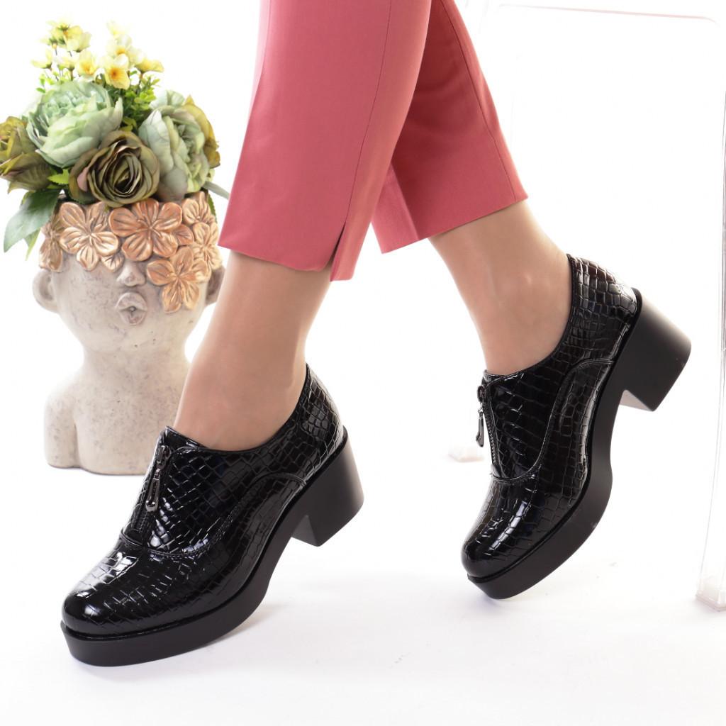 Pantofi piele ecologica Ezonia
