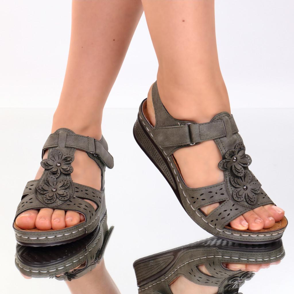 Sandale kaki piele ecologica Lala