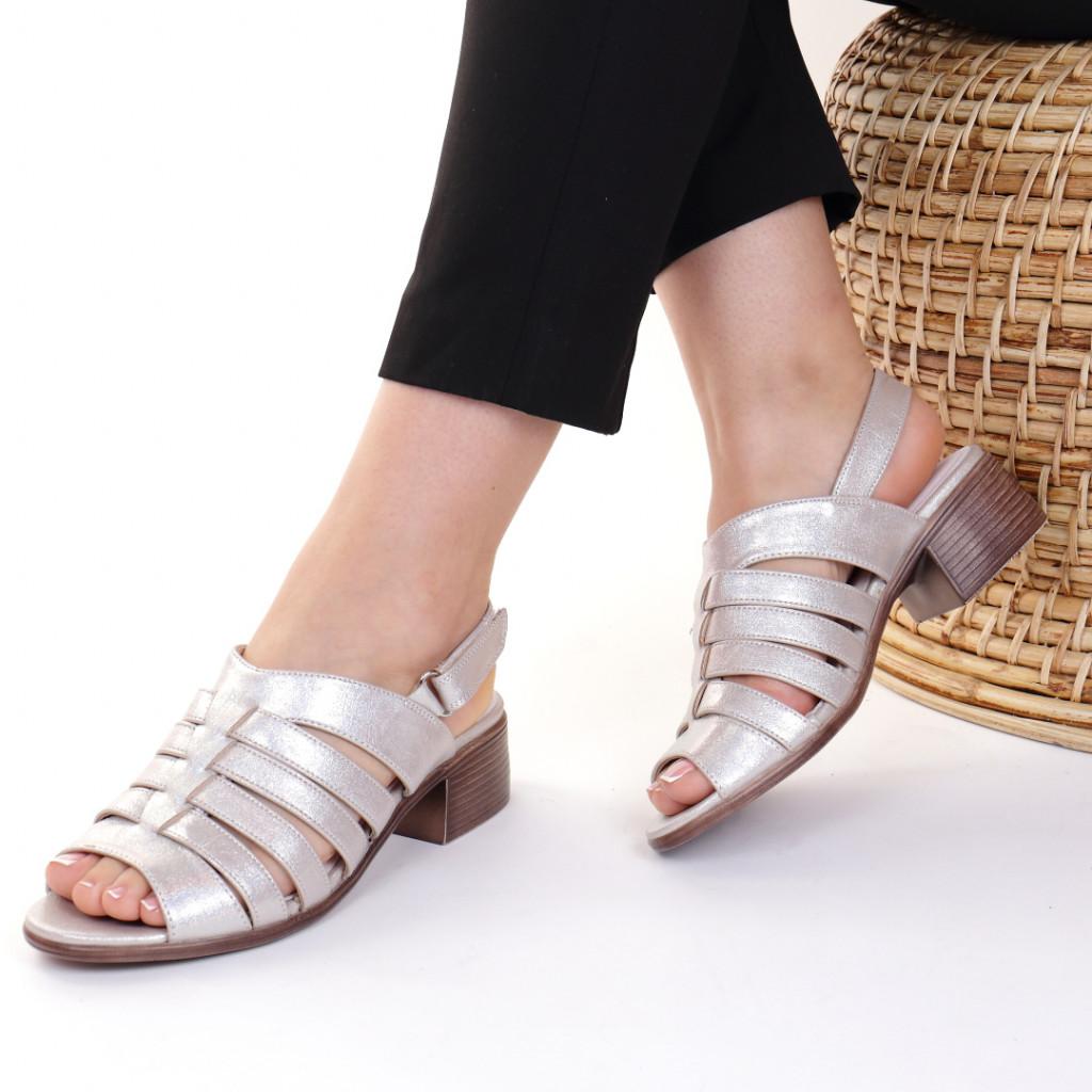 Sandale piele ecologica bej Blandina