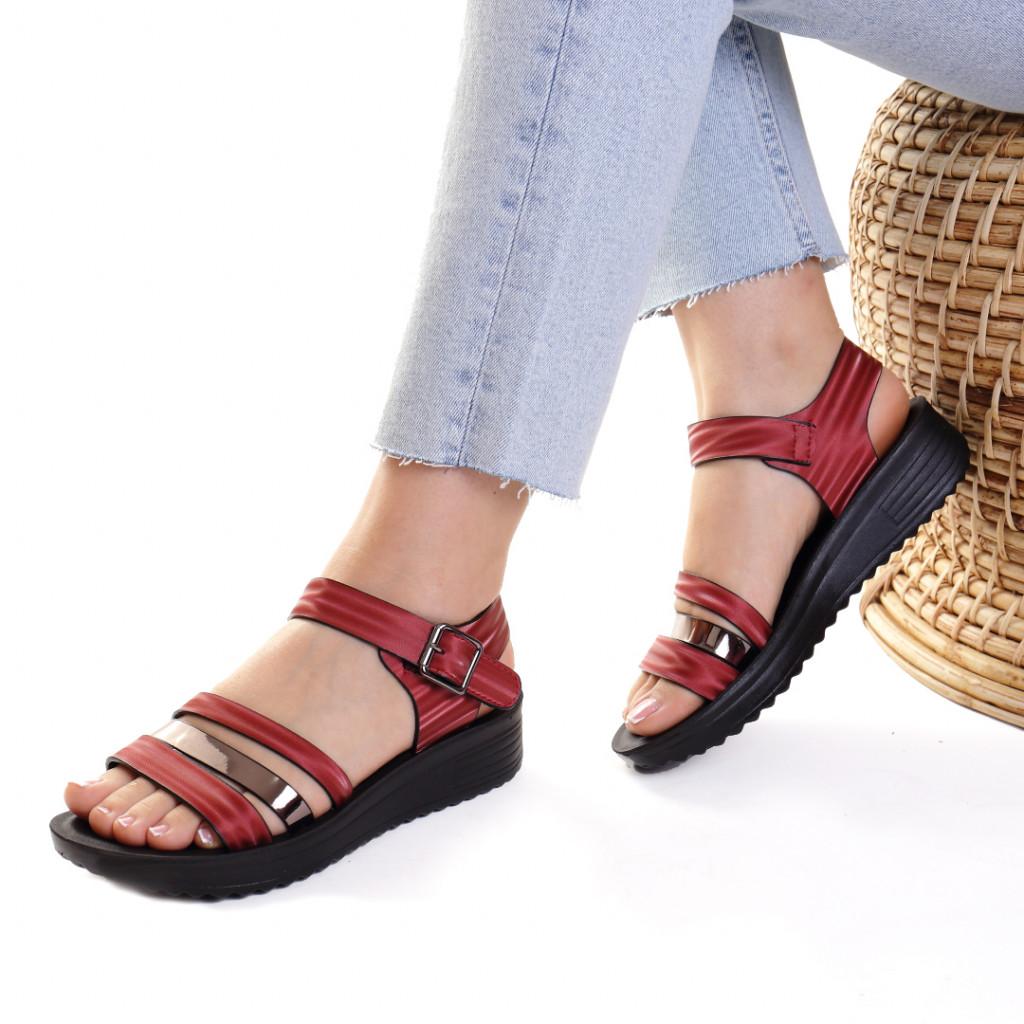 Sandale piele ecologica bordo Charisma
