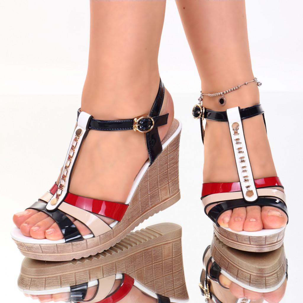 Sandale piele ecologica rosii Asya