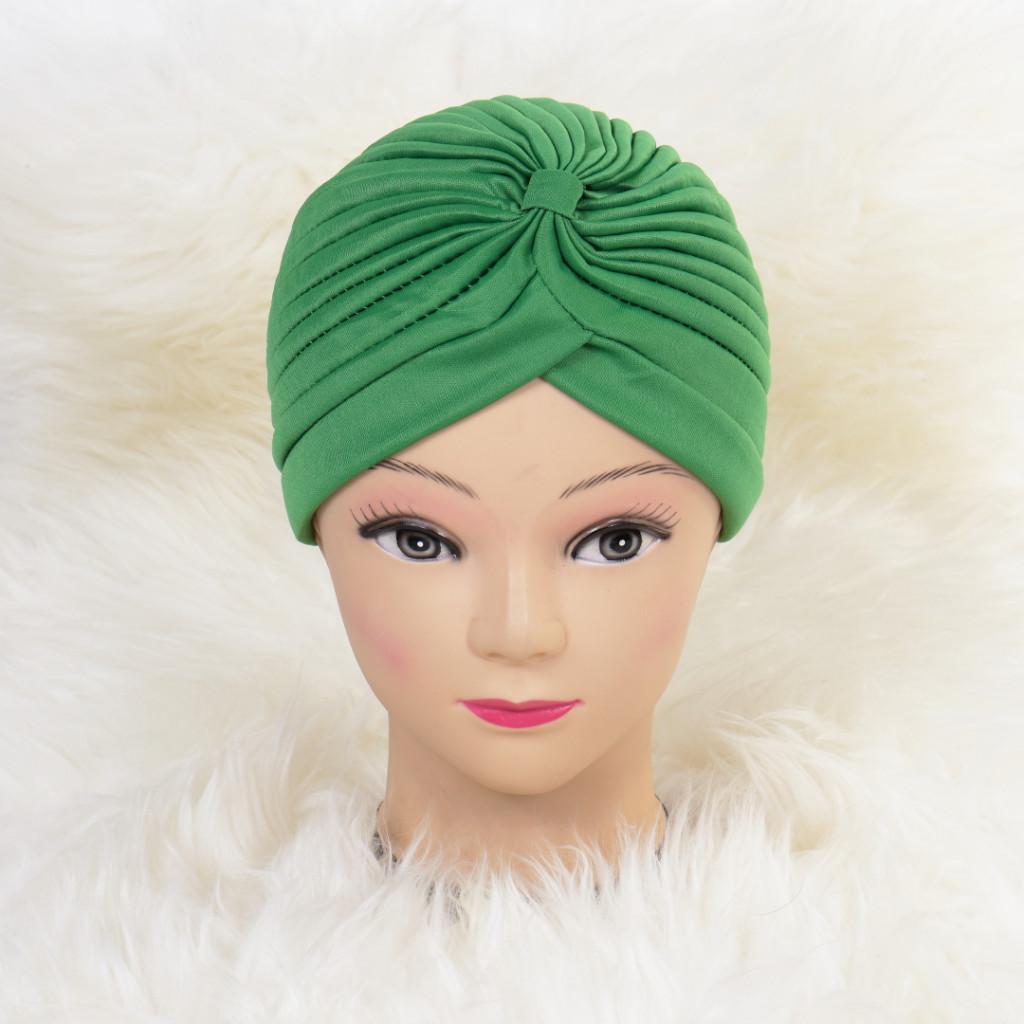 Turban simplu verde Zizi