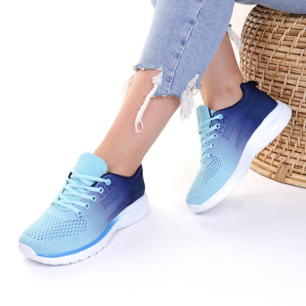 Adidasi material textil albastri Natalie