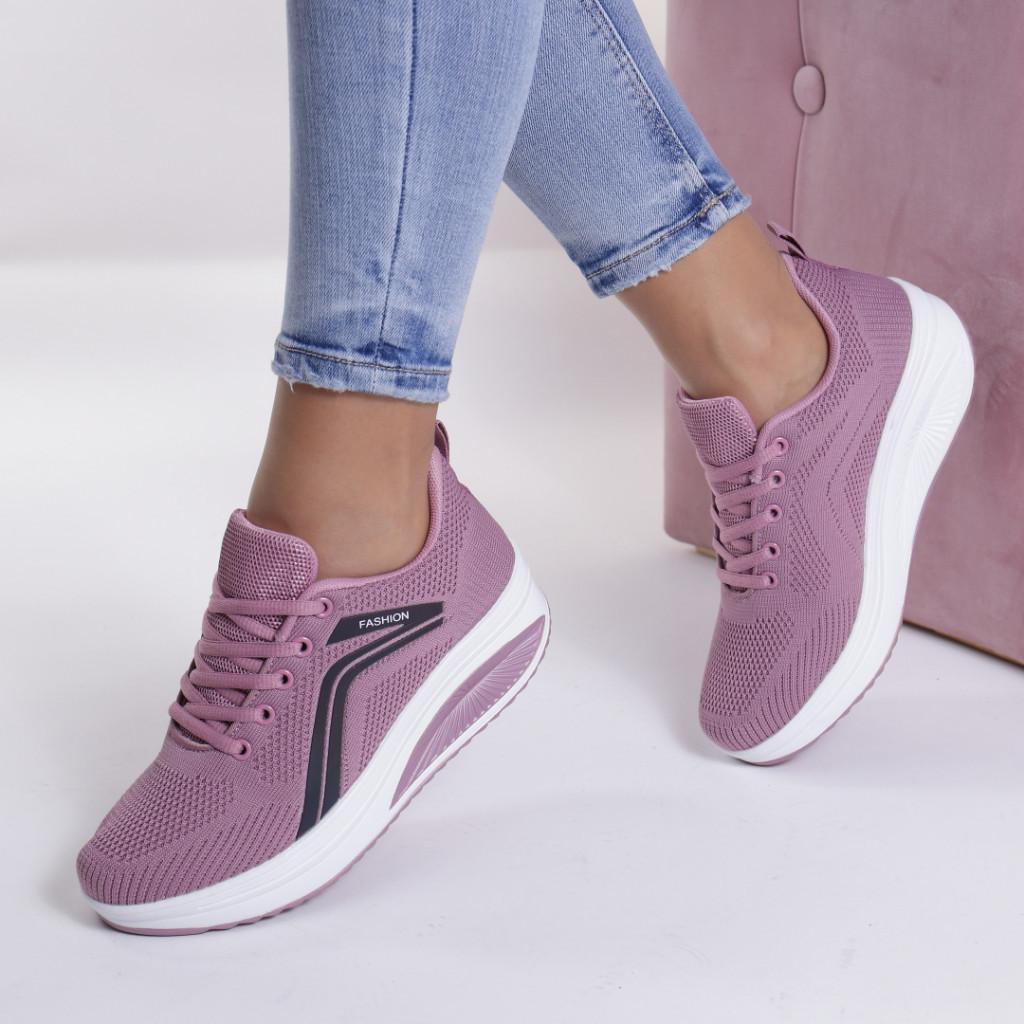 Adidasi roz material textil Saida