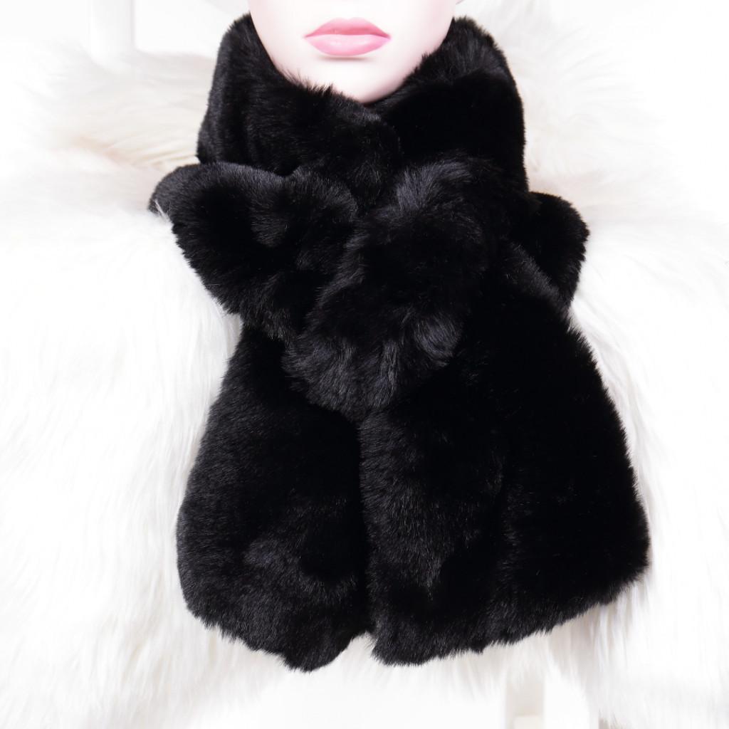 Fular negru cu blanita Lona