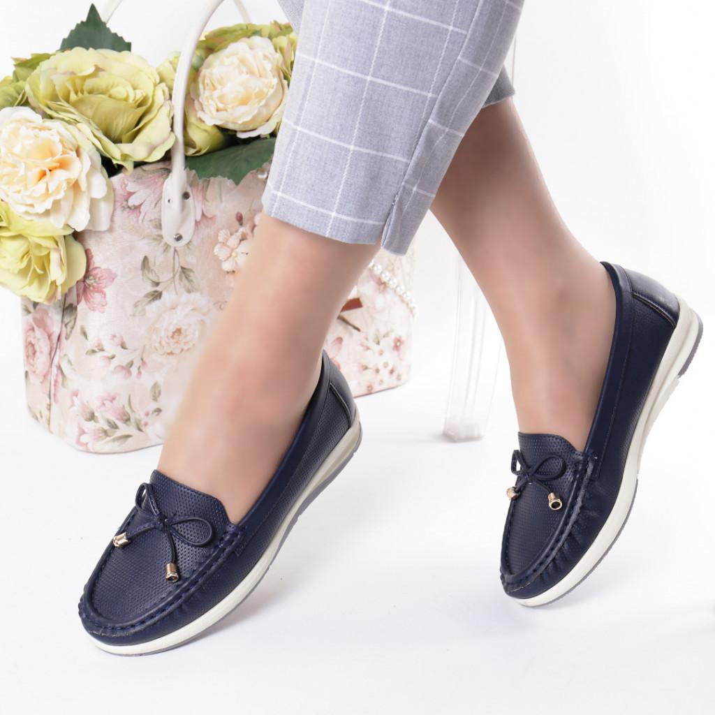Pantofi bleumarin piele ecologica Azra