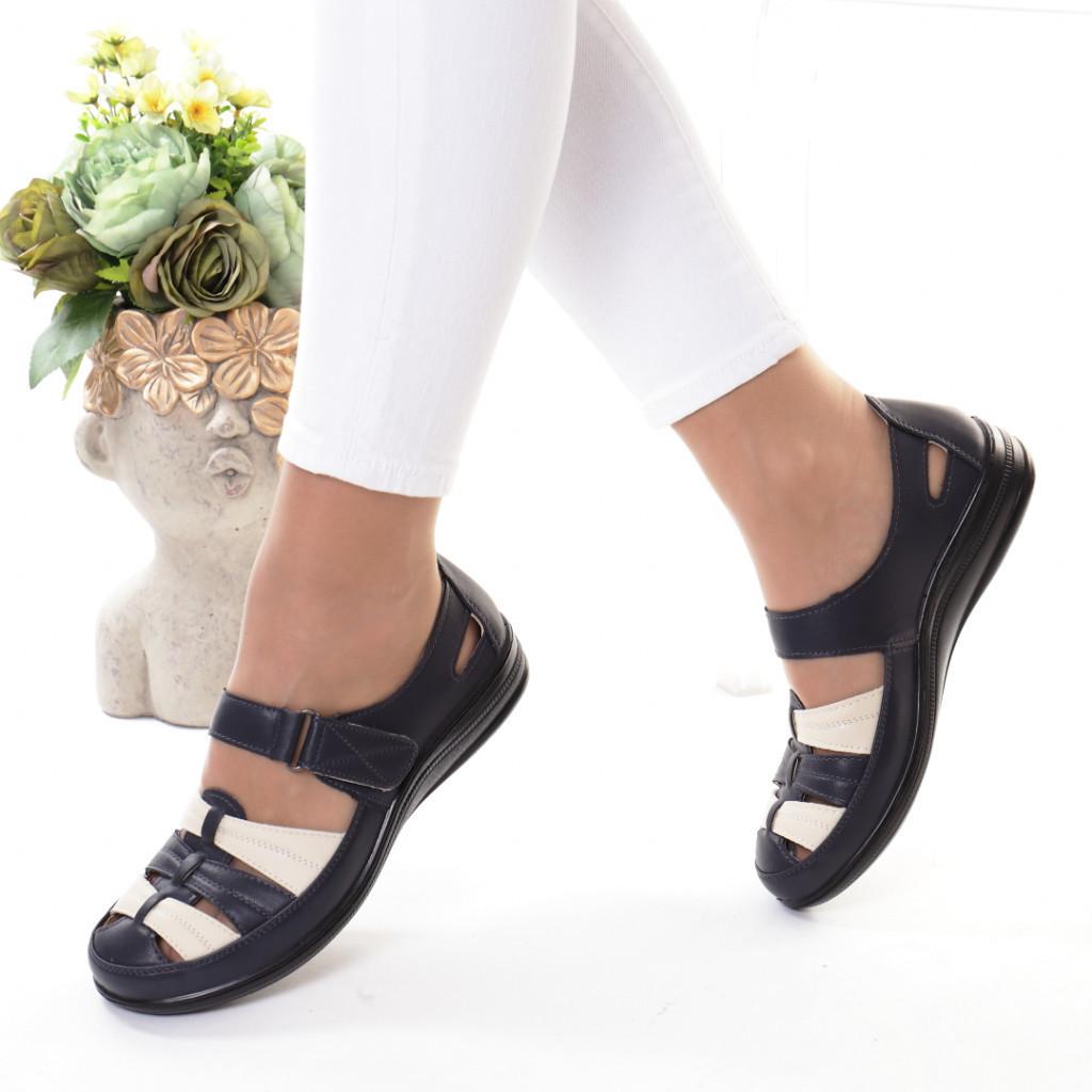 Pantofi bleumarin piele ecologica Florena
