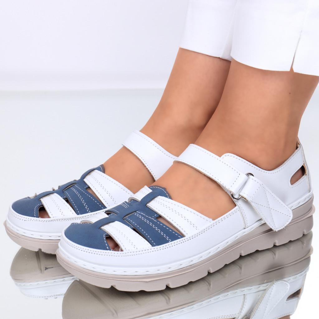 Pantofi piele ecologica albi Sorela