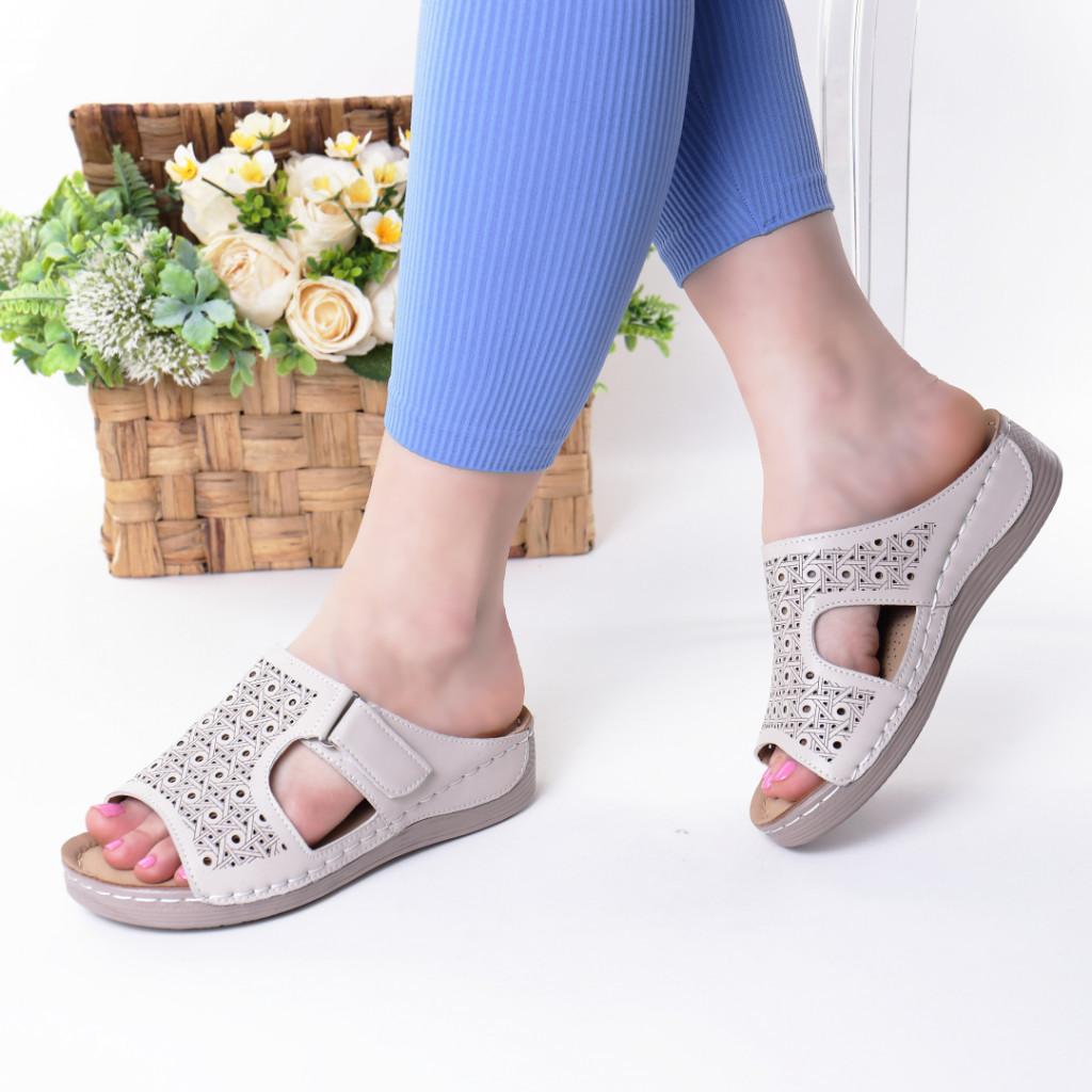 Papuci crem piele ecologica Orna