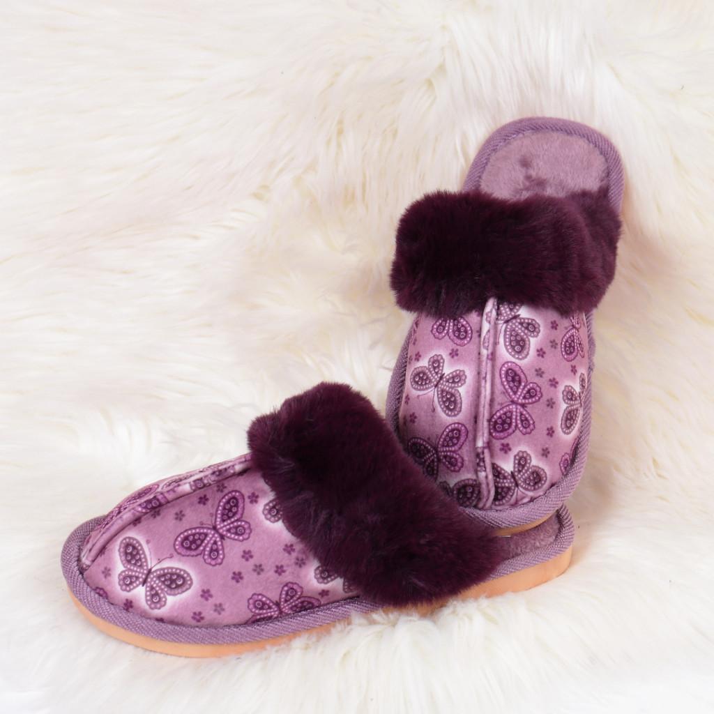 Papuci de casa mov Daliana