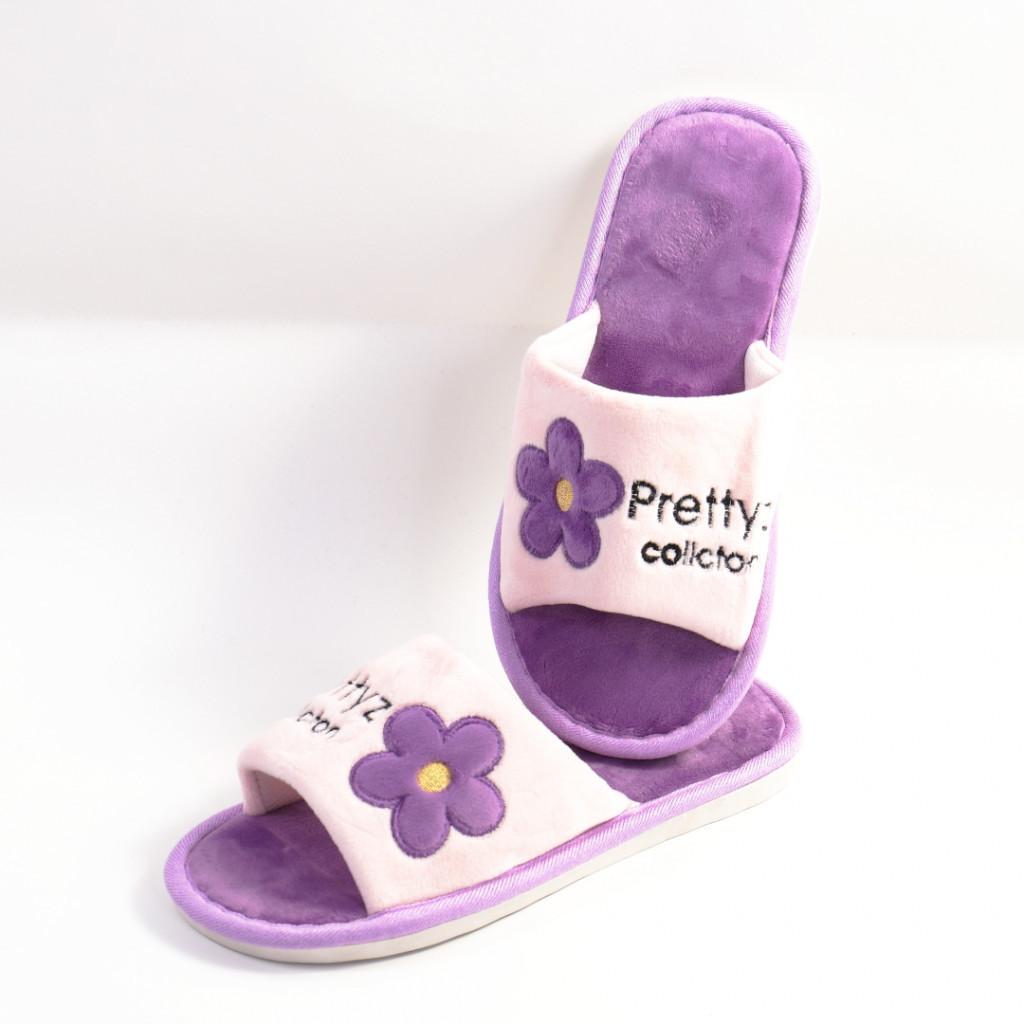 Papuci de casa mov Pretty