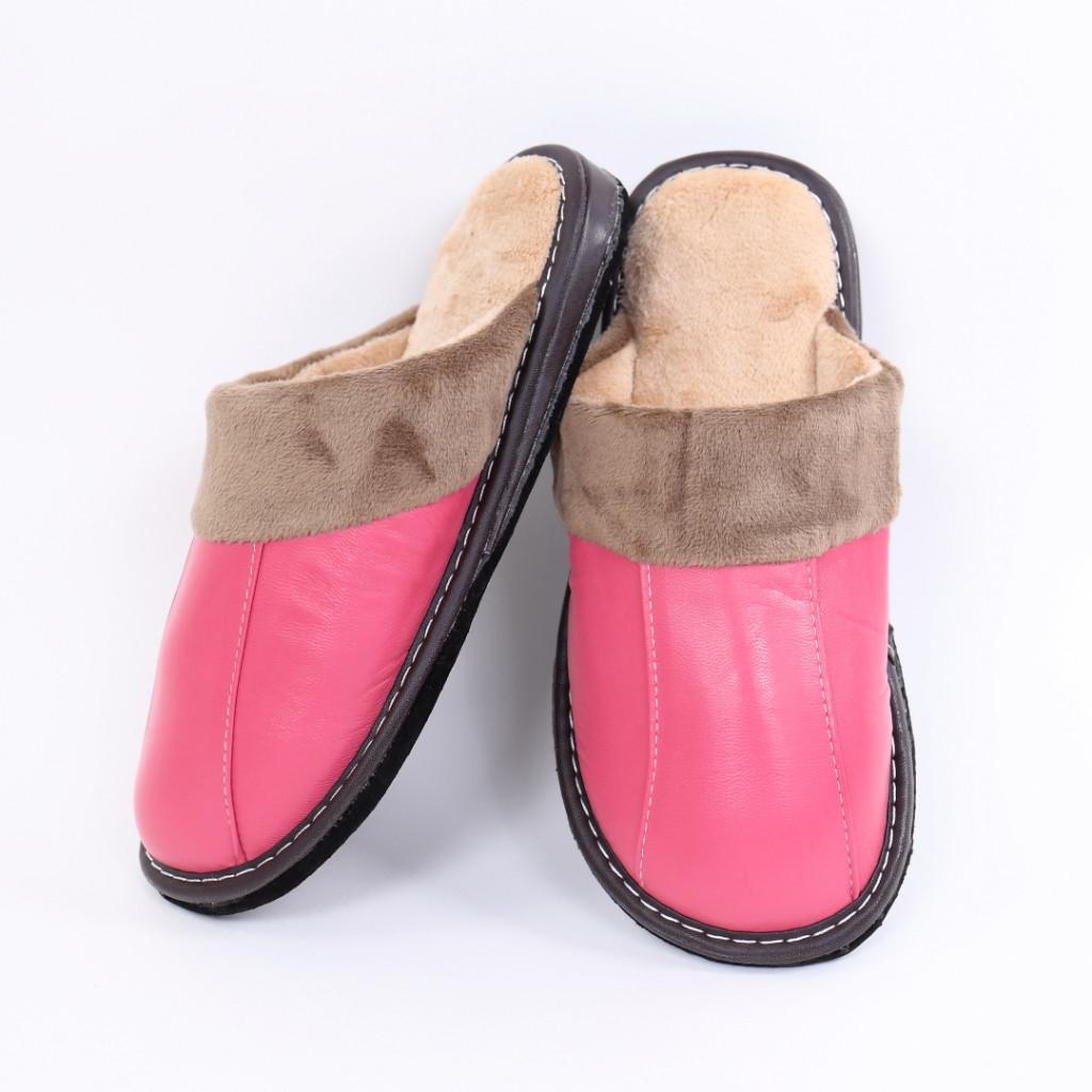 Papuci simpli roz Vida