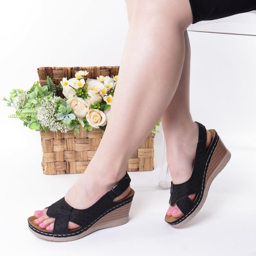 Sandale negre piele ecologica Karima