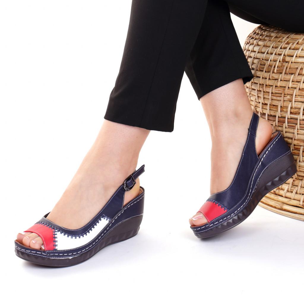 Sandale piele ecologica bleumarin Simina