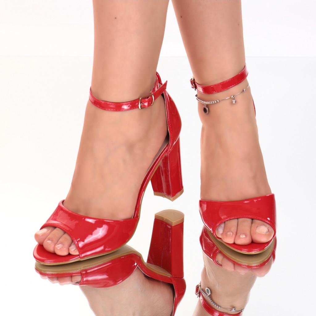 Sandale piele ecologica rosii Anaya