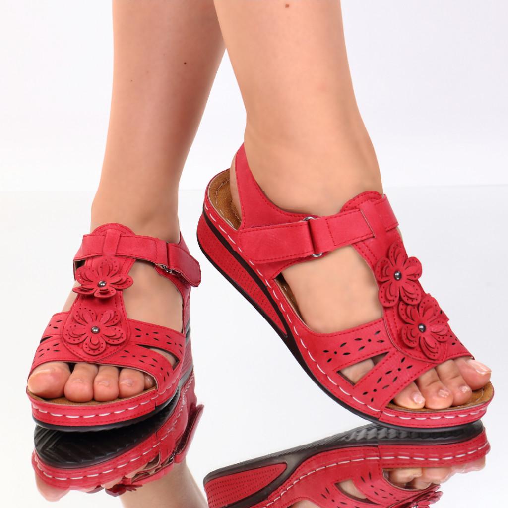 Sandale rosii piele ecologica Lala