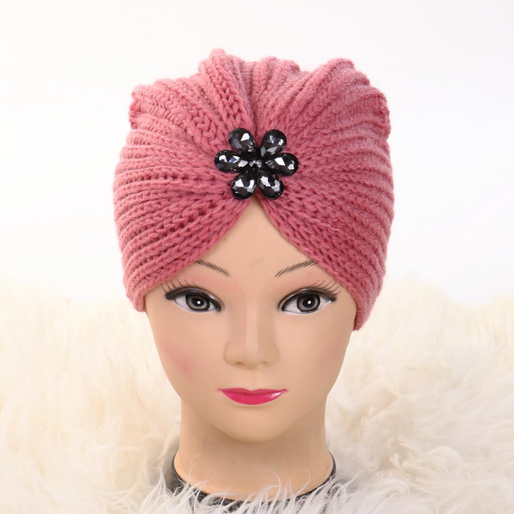 Turban cu model roz Lien