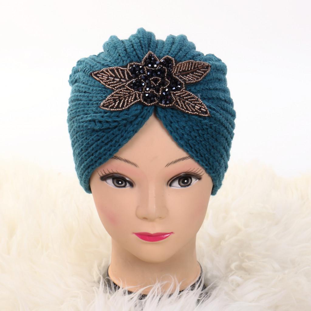 Turban cu model turcoaz Deli