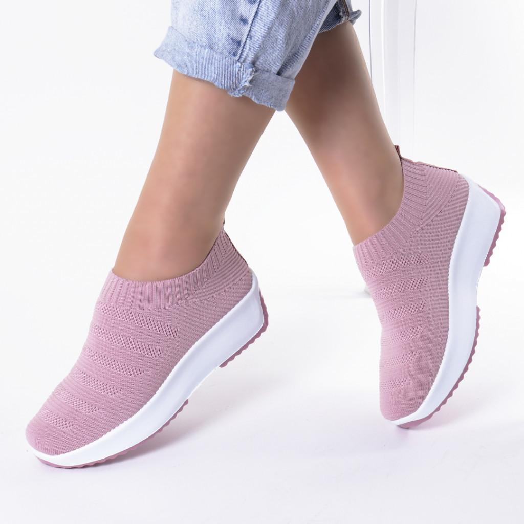 Adidasi roz material textil Rudra
