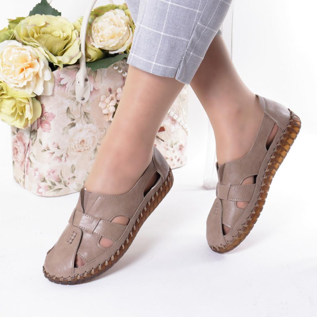 Pantofi maro piele ecologica Damla