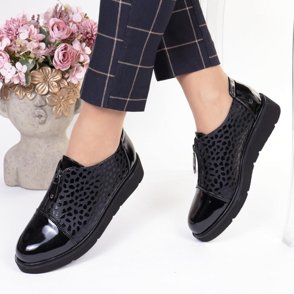 Pantofi negri piele ecologica Teresita