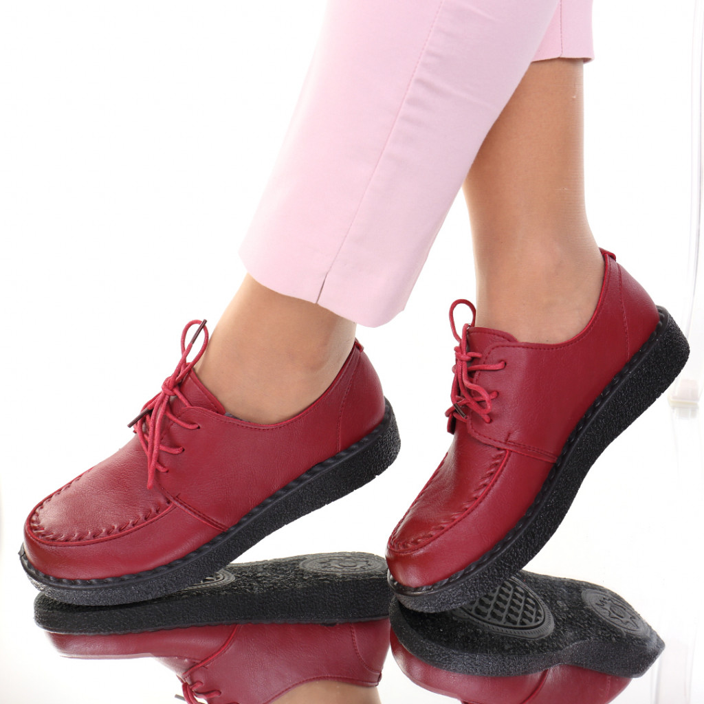 Pantofi piele ecologica bordo Eta
