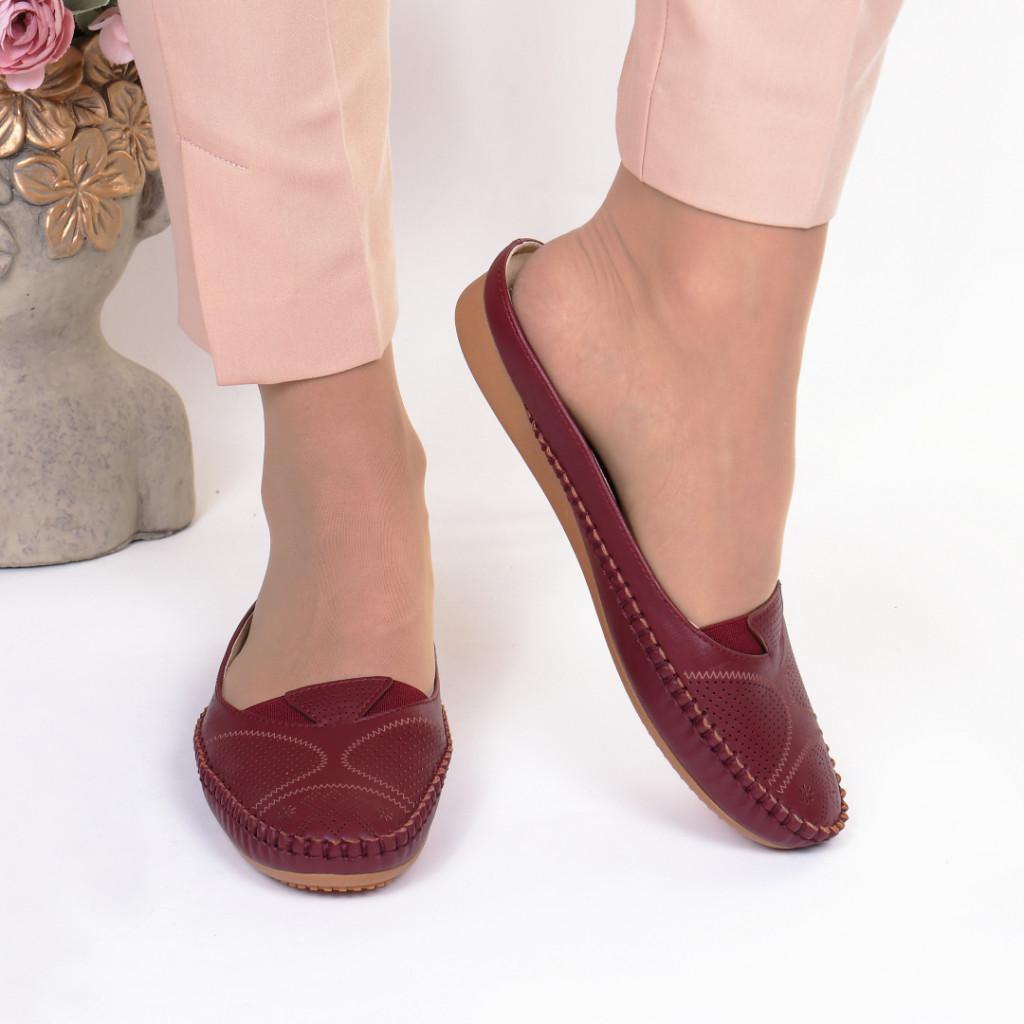 Papuci bordo piele ecologica Anuta