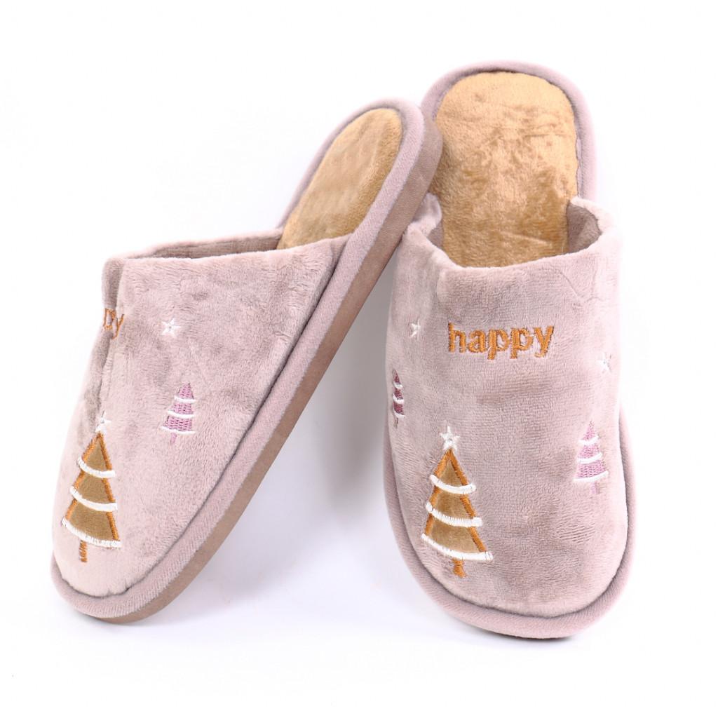 Papuci cu bradut bej Iarmi