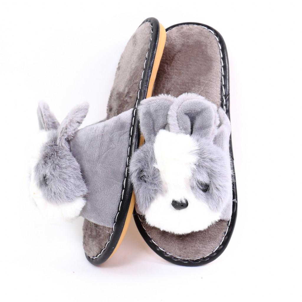 Papuci cu ursulet gri Rimia