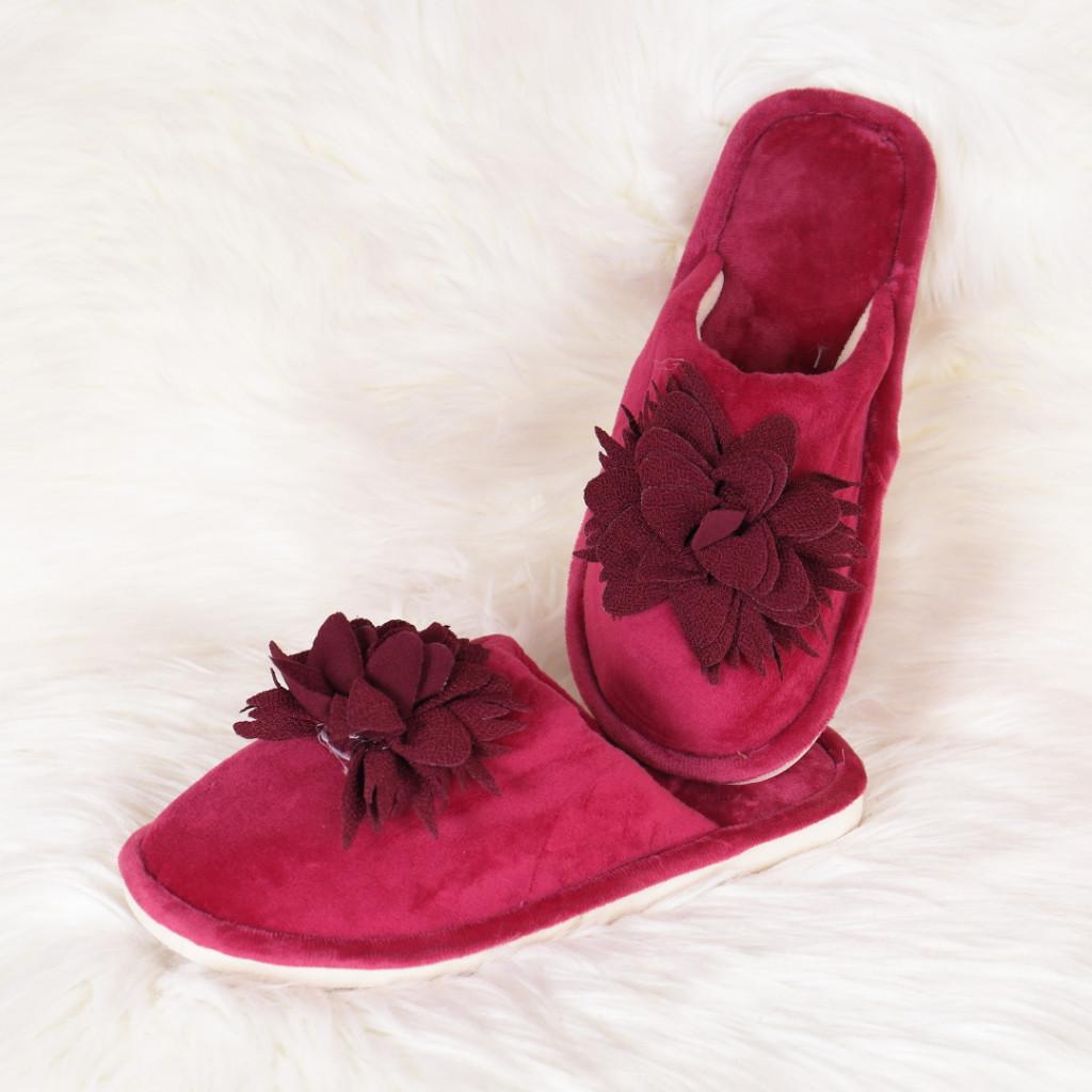 Papuci de casa bordo cu floare Zoly