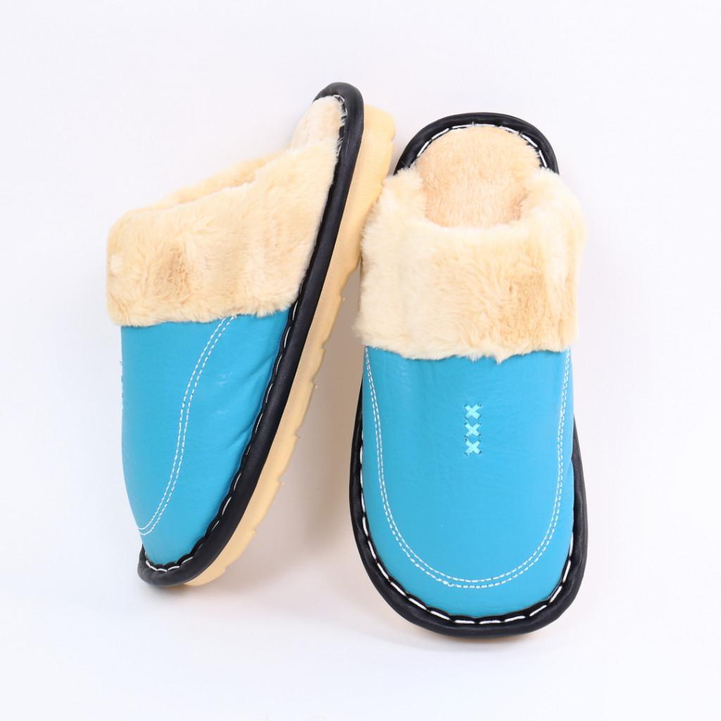 Papuci simpli cu blanita albastri Tobi