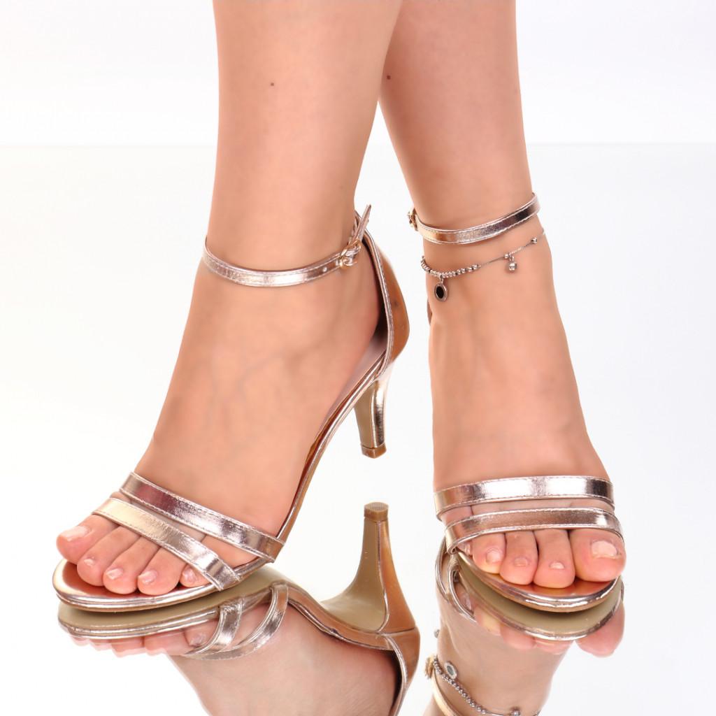 Sandale piele ecologica aurii Abrienda