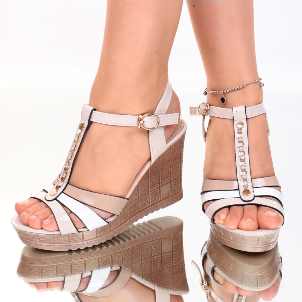 Sandale piele ecologica bej Asya