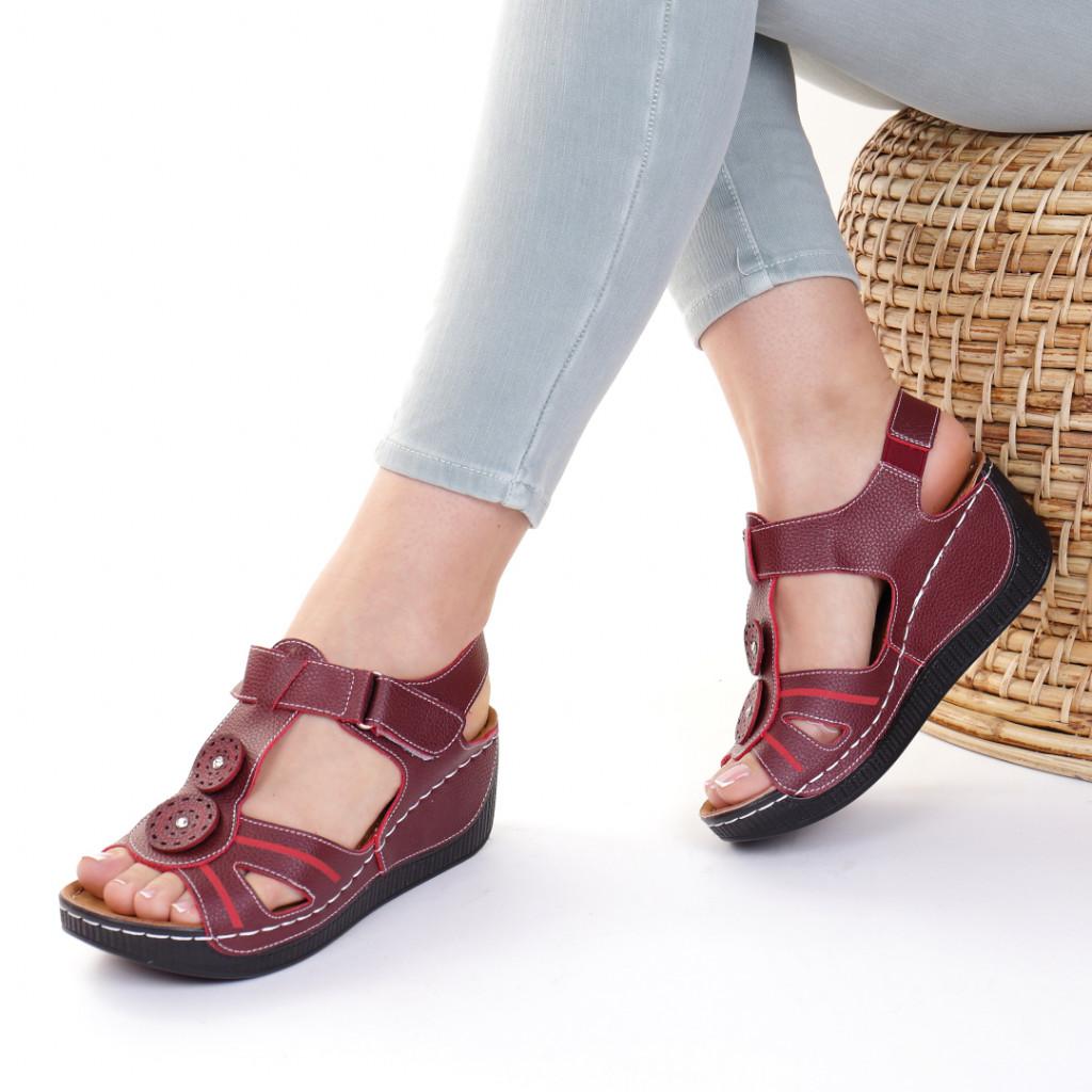 Sandale piele ecologica bordo Costelia