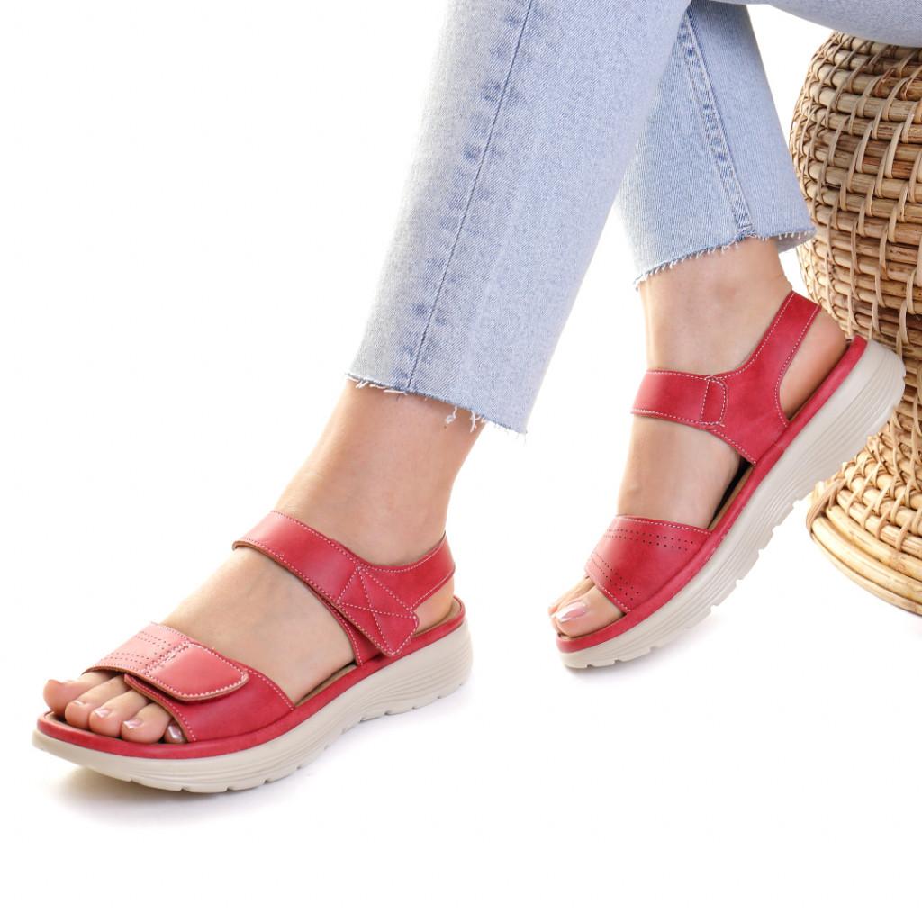 Sandale piele ecologica rosii Aksinya