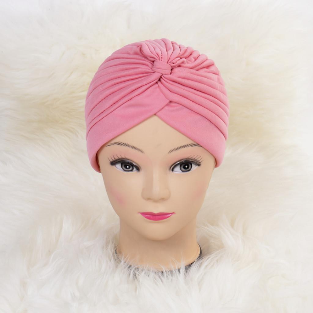 Turban simplu roz Zizi