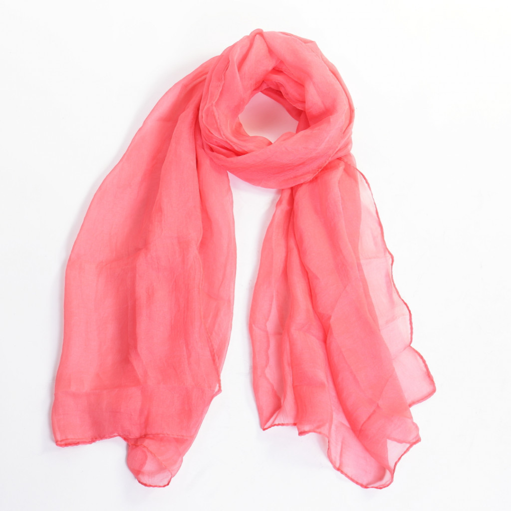 Esarfa roz simpla Amini