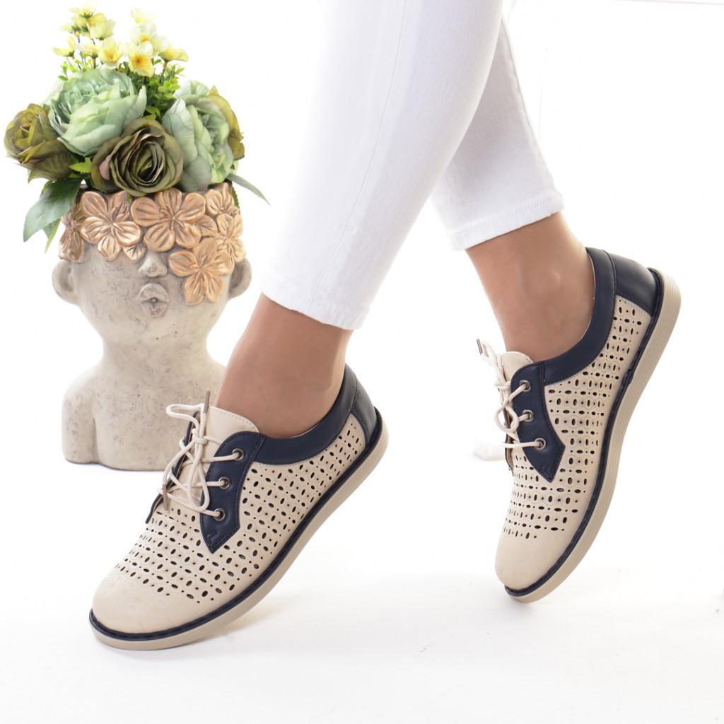 Pantofi bleumarin piele ecologica Bodia