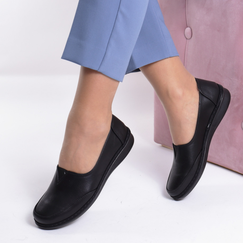 Pantofi piele ecologica Malfina
