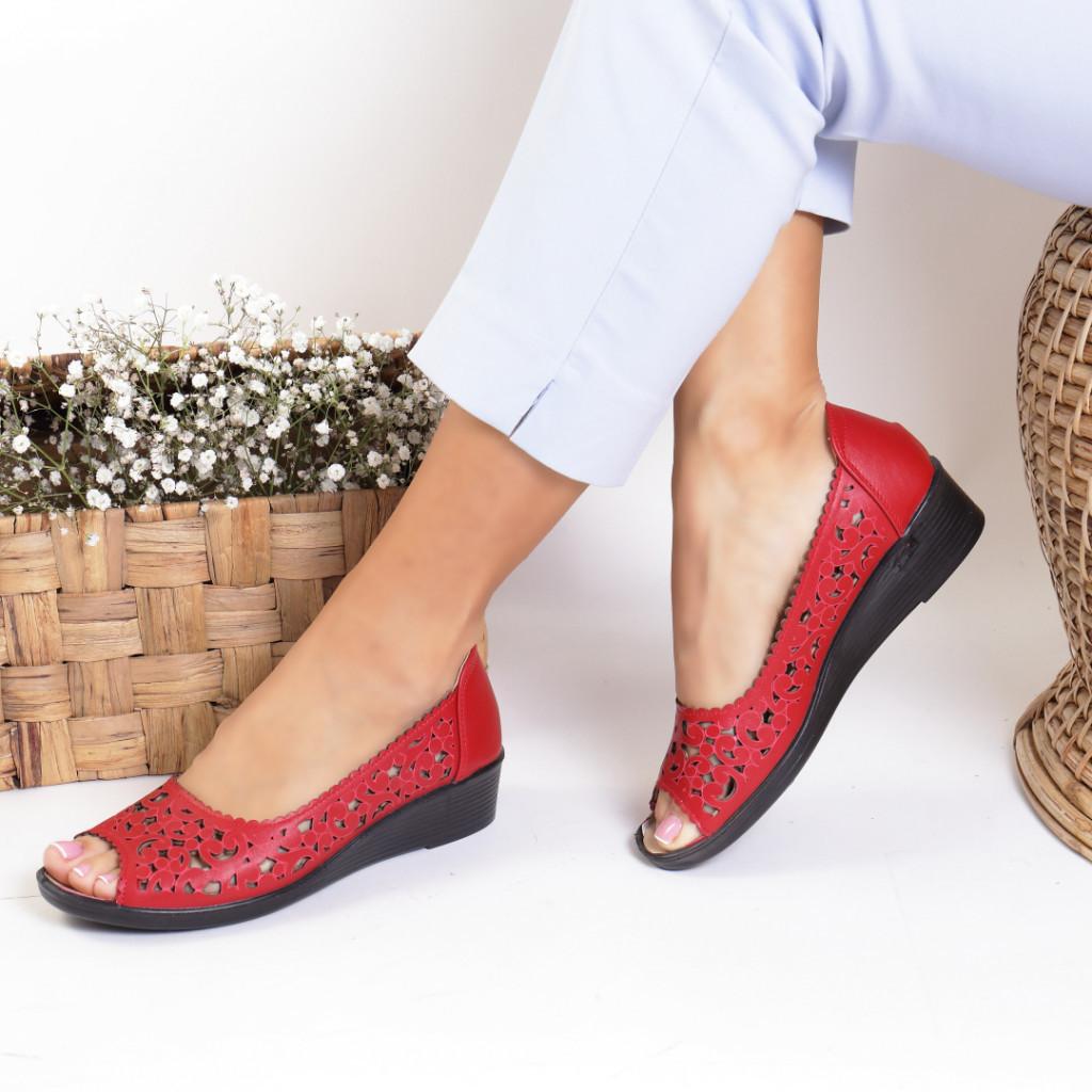 Pantofi piele ecologica rosii India