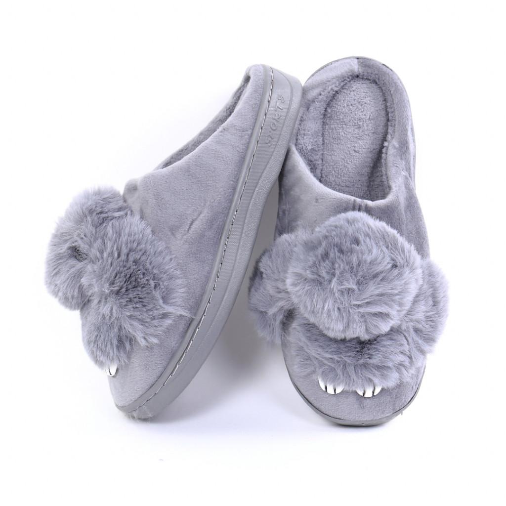 Papuci cu iepuras gri Iupia