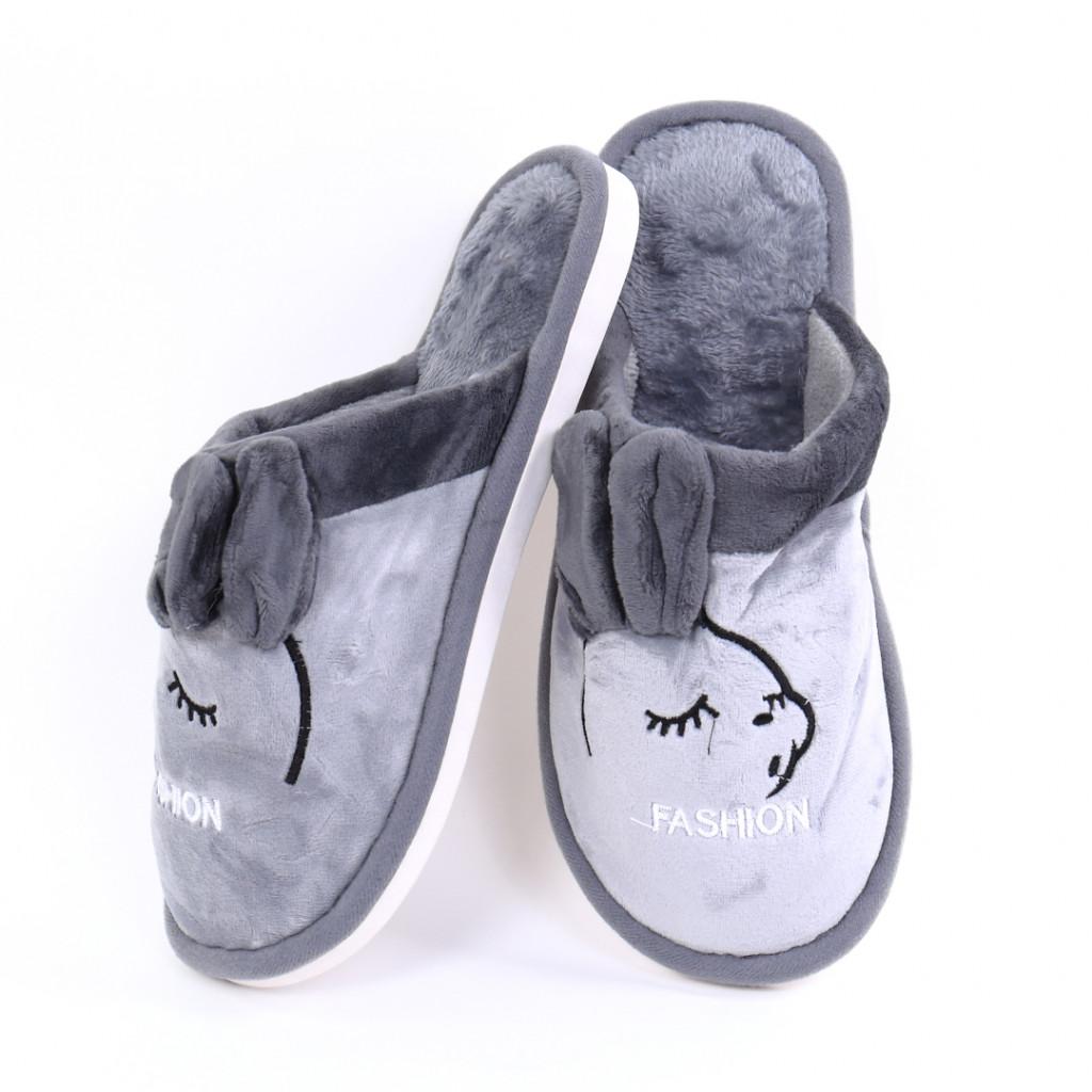 Papuci cu model gri Slena