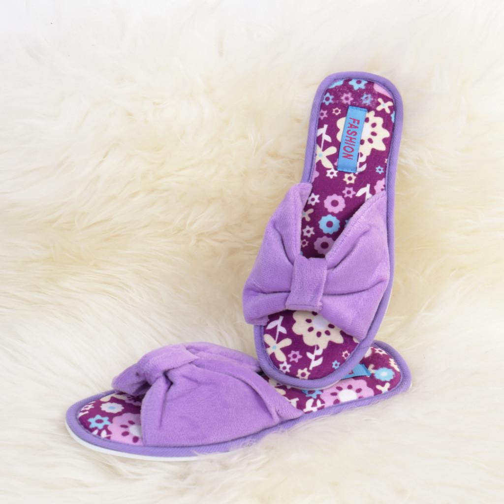 Papuci de casa mov Ena