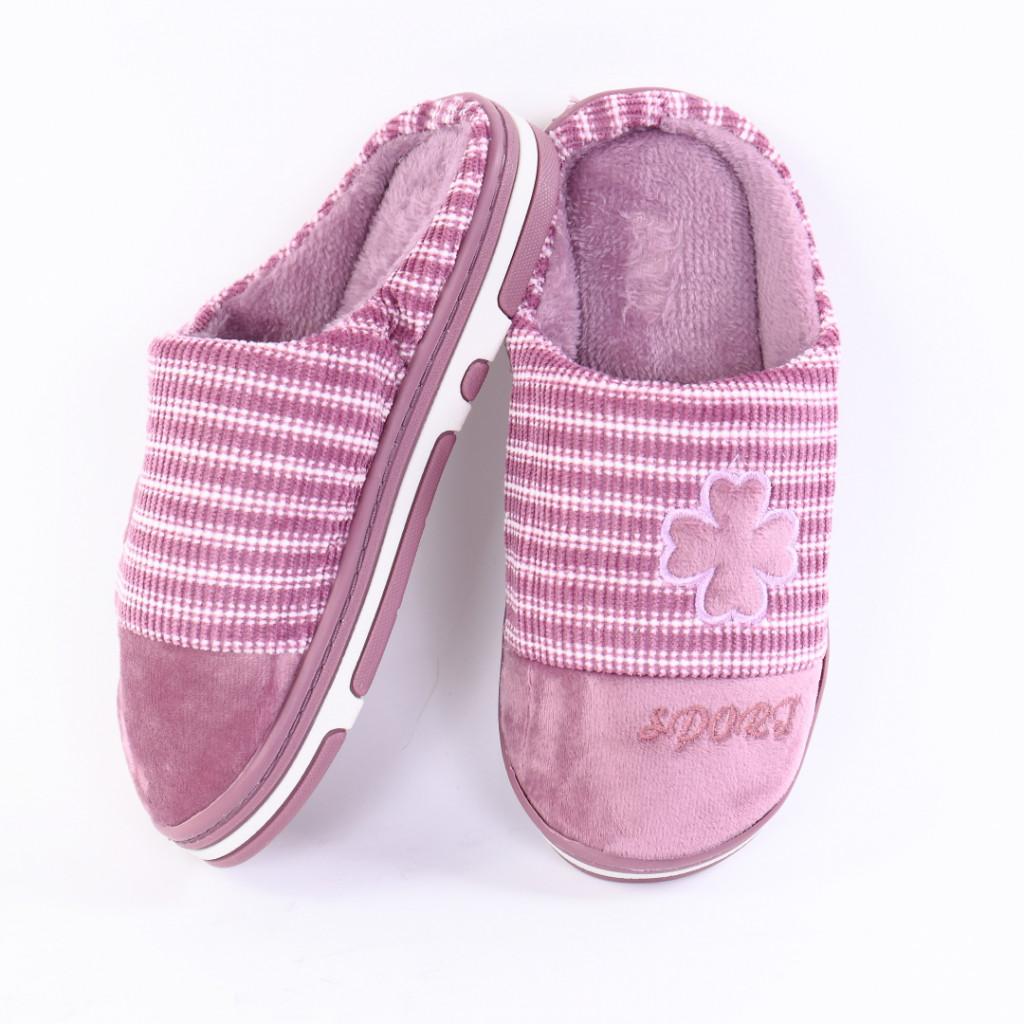 Papuci pufosi cu model lila Lili