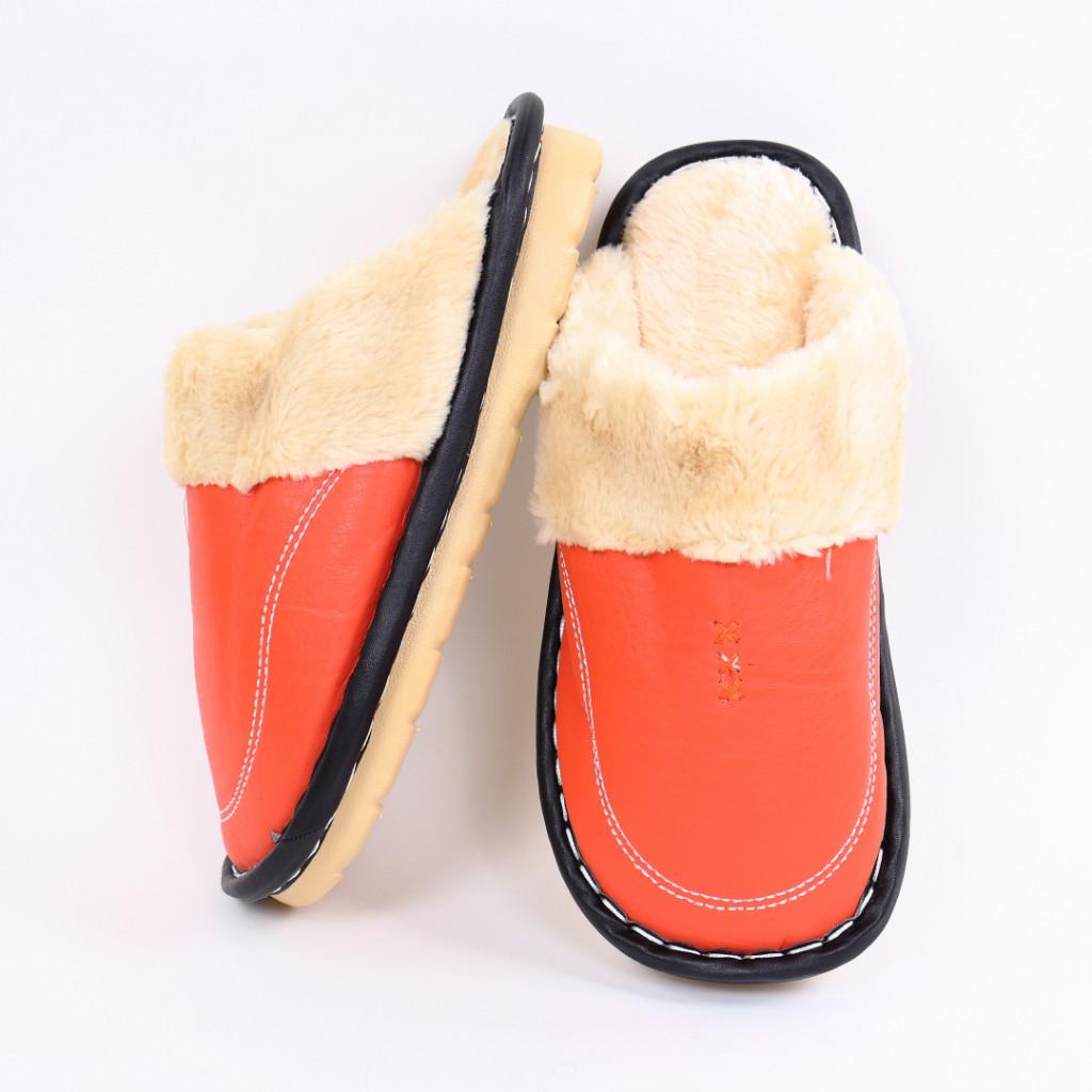 Papuci simpli cu blanita portocalii Tobi