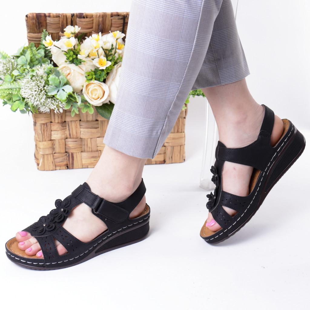 Sandale negre piele ecologica Lala
