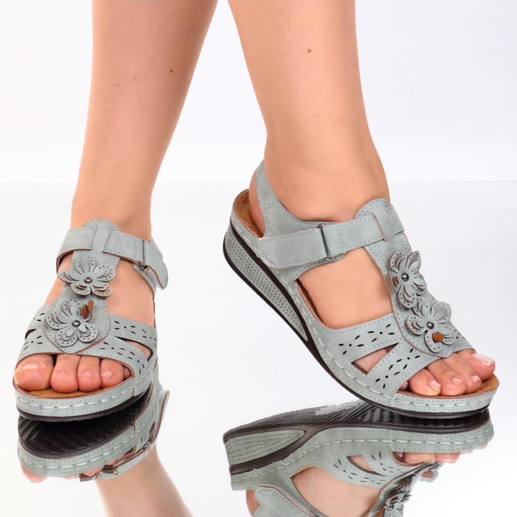 Sandale verzi piele ecologica Lala